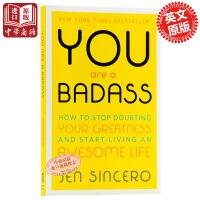 【中商原版】你是个惯犯:如何停止怀疑自身的优点和展开美好的人生 英文原版 You are a Badass Jen S