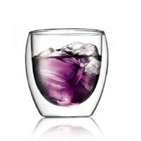 楼龙 耐热双层玻璃杯 创意茶杯 饮料杯 350ML CF-121    1403