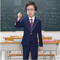 男童套装礼服优雅时尚英伦风西装韩版女童校服套装格子学院风儿童园服简约大气