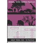 预订 Animal Word Search Puzzles: Great Travel Size, 50 Seek a