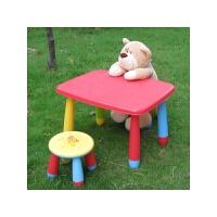 宜家风格阿木童可拆儿童学习桌/小餐桌塑料桌饭桌写字桌/长方形儿童桌 桌腿多色