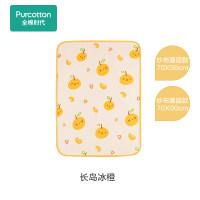 全棉时代婴儿纱布隔尿垫70cm×50cm长岛冰橙,1条/袋