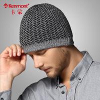 kenmont冬季男士帽子 时尚套头帽毛线帽男 户外针织帽1602