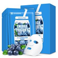 韩国丽得姿LEADERS 核心至美活力蓝莓酸奶面膜10片 补水 保湿