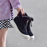 19冬珂卡芙新款【真皮真毛】时尚流行休闲靴马丁靴甜美百搭女靴