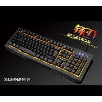 炫光F201单色发光游戏键盘有线台式机笔记本电脑USB键盘 可搭配鼠标套装