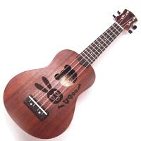 s/椭圆型兔野熊吉尤克里里UKULELE21寸u900四弦小吉他乌克丽丽入门吉他 圆角 21寸