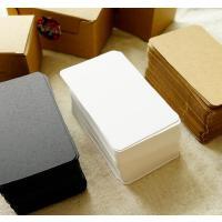 实用空白明信片涂鸦小卡片礼物留言卡英语单词卡盒装100张