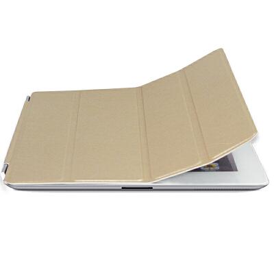 ikodoo爱酷多 苹果平板电脑ipad2/3/4smart cover保护套 智能休眠皮套 ipad2保护套 ipad3保护套 ipad4保护套 ipad保护套 ipad2皮套 ipad3皮套 ipad4皮套 ipad皮套 金色 单前盖土豪金