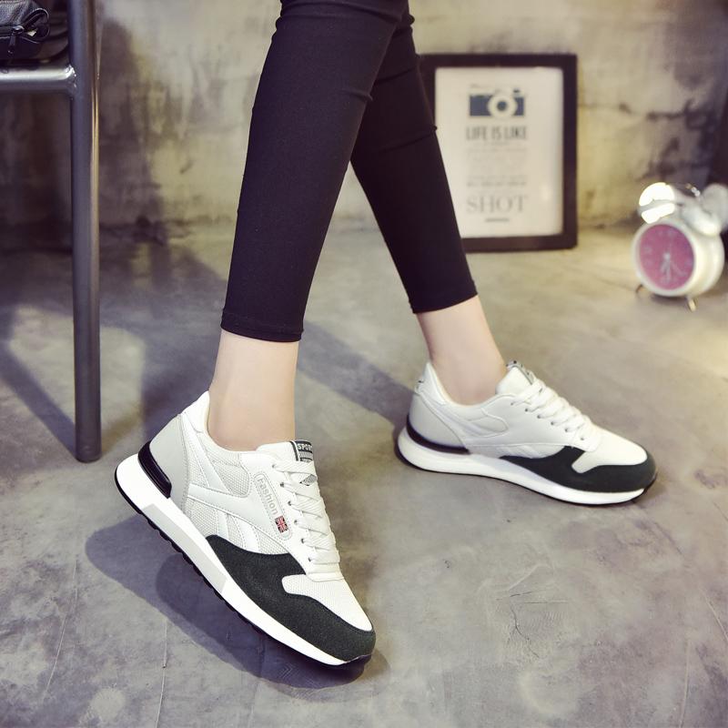 ELEISE美国艾蕾莎新品059-B-1702学院网布女士休闲鞋