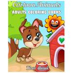 预订 Cartoon Animals Adult Coloring Book: Cute Animals Fun an