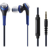 铁三角(Audio-technica)CKS550IS ATH-CKS550IS 重低音 手机通话入耳式耳机 蓝色/黑