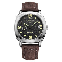 2018新款 美格尔手表 男士皮带表男学生石英表时尚个性日历腕表