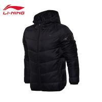 李宁短款羽绒服男士篮球系列保暖冬季80%白鸭绒运动服AYMM089