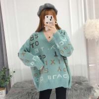 韩版宽松中长款冬装打底衫外套孕妇秋装套装毛衣时尚款新款针织衫