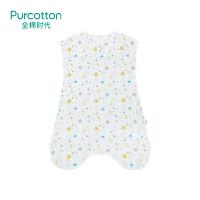 全棉时代初生婴幼儿宝宝睡袋春夏薄款防惊跳踢被儿童襁褓纯棉睡袋