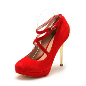 【3折到手价149.7元】D:Fuse/迪芙斯羊皮高跟浅口女鞋单鞋410077373