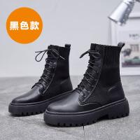 2019秋季马丁靴女粗跟厚底黑色百搭英伦风靴子学生机车靴短靴