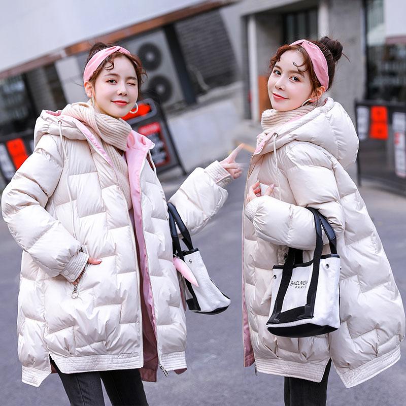 孕妇装秋冬款外套怀孕期冬装棉衣孕妇中长款加厚保暖棉袄