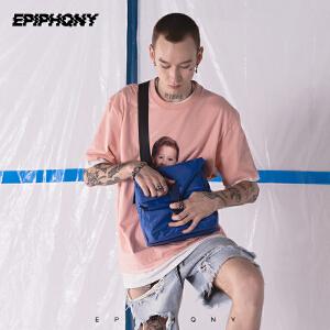 Epiphqny2018新款街头潮流多功能学生男包休闲时尚斜挎包单肩包