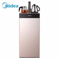 美的(Midea)饮水机 办公立式温热型下置式智能童锁茶吧机 家用饮水机 YR1027S-W玫瑰金