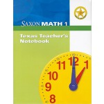 预订 Saxon Math 1: Texas Teacher's Notebook [With Booklet] [I