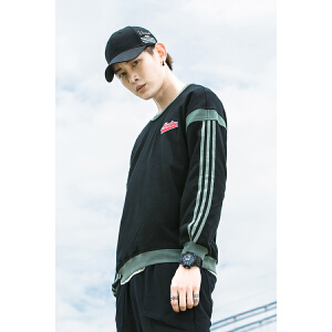 2018秋季新款韩版运动休闲长袖圆领套头衫外套运动卫衣