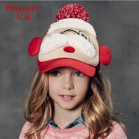 卡蒙小孩帽子潮男女童帽子鸭舌帽可爱圣诞帽女童棒球帽儿童5811