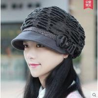 帽子女士时尚简约贝雷帽蝴蝶结鸭舌帽 户外新款潮时尚时装帽韩版休闲