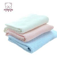 Minimoto/小米米 婴儿宝宝棉加柔加大加厚全棉吸收浴巾毛巾被 YA0442