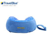 蓝旅胶枕U型枕记忆棉护颈椎旅行办公车用颈枕