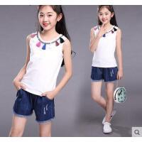儿童运动套装童装女童韩版时尚新款休闲百搭10时髦9-11大童12周岁13女孩15