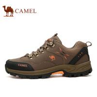 camel骆驼户外男鞋秋季户外休闲徒步鞋防滑耐磨低帮鞋牛皮登山鞋