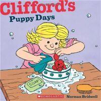 英文原版 大红狗 儿童绘本 Clifford's Puppy Days