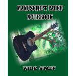 预订 MANUSCRIPT PAPER NOTEBOOK wide staff: A 6 row of blank f