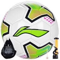 李宁/Lining 标准11制5号PVC机缝足球 比赛训练用球 绿色 5号  LFQK-127-1