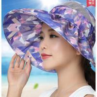遮脸防紫外线遮阳帽可折叠电动车太阳帽沙滩帽子百搭 防晒帽女 支持礼品卡