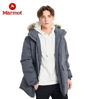 Marmot/土拨鼠2019男式新款透气拒水鹅绒700蓬毛领羽绒服