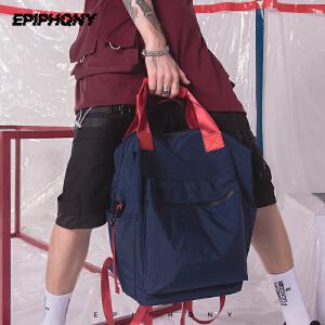 Epiphqny2018新款手提双肩包原创潮牌旅行撞色时尚休闲旅游背包男