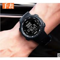 功能圆形运动手表计步器智能表闹钟跑步防水多男士电子表成人手环