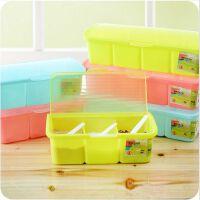 厨房调料盒套装塑料 透明调料罐调味盐罐佐料盒调味盒