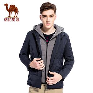 骆驼男装 冬季新款智能加热功能可拆卸内胆男青年羽绒服