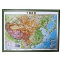 中国地形立体精雕三维凹凸地理学习