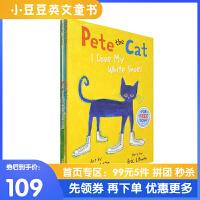 进口英文原版 Pete the Cat 皮特猫大开本绘本 4册合售 [4-6岁]