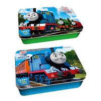 托马斯和朋友阶梯训练成长铁盒拼图 快乐的培西60片+热心的托马斯100片 附赠参考图及对应故事书