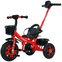 麦豆儿童三轮车1-3-2-6岁大号宝宝婴儿手推脚踏自行车幼儿园童车
