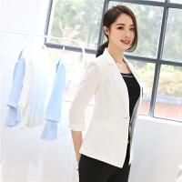 小西装女外套 春季新款常规时尚气质修身显瘦百搭韩版七分袖西服