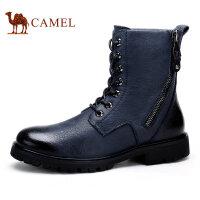 Camel 骆驼男靴 秋冬新款青春潮流韩版马丁靴 圆头保暖靴子