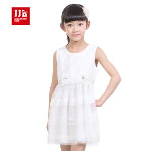 季季乐 2015夏装新品童装女童夏装短袖连衣裙中大儿童雪纺短裙GXQ52205