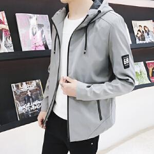 【买了都说好】 【厂价直销】2018新款男士秋装外套中长款修身春秋休闲夹克衣服